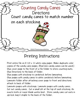 Counting Candy Canes Activity