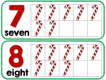 Counting Candy Canes- Adapted Christmas Counting Book {Autism, Early Childhood}