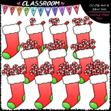 (0-10) Counting Candy Canes Clip Art - Sequence & Math Cli