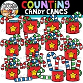 Counting Candy Canes Clipart {Christmas Clipart}