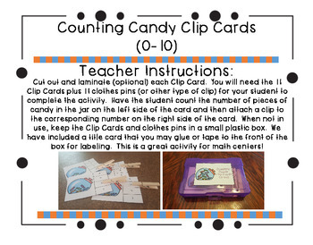 Counting Candy Clip Cards (0-10)