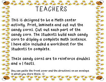 Counting Candy Corn - Addition Center