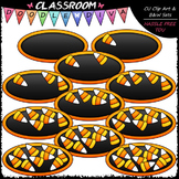 (0-10) Counting Candy Corn Clip Art - Sequence, Counting & Math Clip Art & B&W