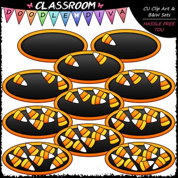 Counting Candy Corn Clip Art - Sequence, Counting & Math Clip Art