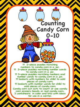 Counting Candy Corn - Fall & Halloween Counting Fun 0-10 with Candy Corn