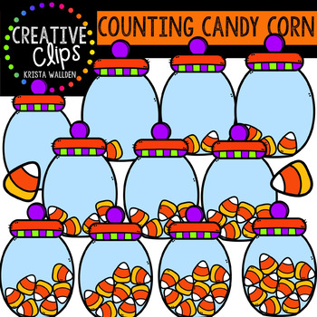 Counting Candy Corn: Halloween Clipart {Creative Clips Clipart}