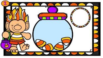 Counting Candy Corn Trolls-A Digital Math Center