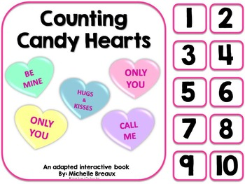 Counting Candy Hearts- Adapted Valentines Day Book {Autism