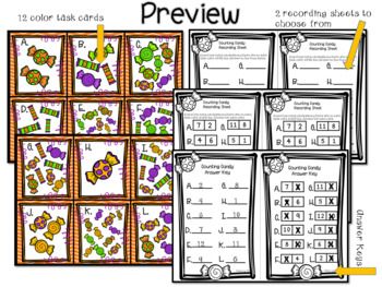 Counting Candy Math Task Cards
