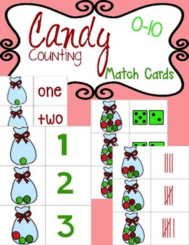 Counting Candy: Numbers 0-10 (Match Cards