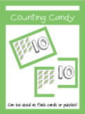 Counting Candy Puzzles and Flash Cards (1-15)