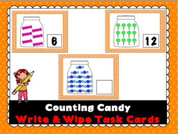 Counting Candy Write and Wipe Cards