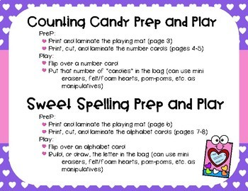 Counting Candy and Sweet Spelling