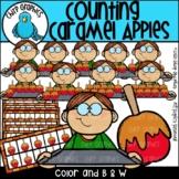 Counting Caramel Apples Clip Art Set