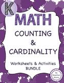 Counting & Cardinality Kindergarten Common Core Bundle Printables & Activities