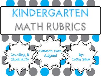Counting & Cardinality Kindergarten Rubrics