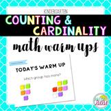 Counting & Cardinality Math Warm Ups (K)