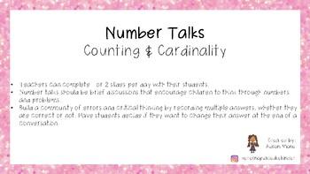 Counting & Cardinality Math Talks