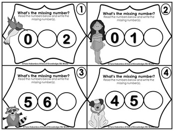 Counting & Cardinality {Numbers 0-10 Task Cards}