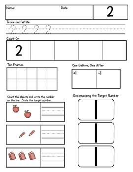 Counting & Cardinality Practice Pack