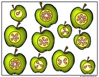 Apple Theme Counting & Cardinality Workmats