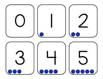 Counting Cards 0-10- Blue