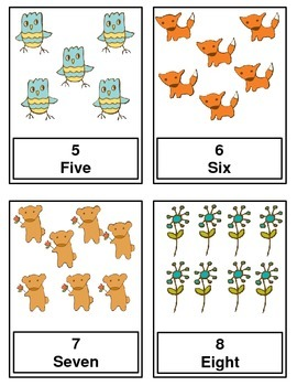 Counting Cards 1-20   Forest and Meadow Theme