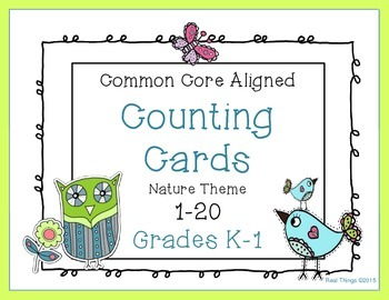 Counting Cards 1-20   Fun Nature Theme