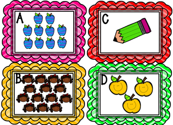 Counting Cards- Back to School Numbers 1-20