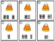 Counting Cards Ten Frames, Tally Marks & Base Ten Blocks Candy Corn