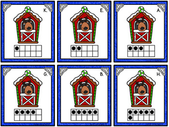Counting Cards with Ten Frames and Tally Marks - Christmas Reindeer