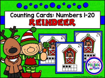 Counting Cards with Ten Frames and Tally Marks - Christmas