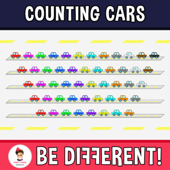 Counting Cars Clipart