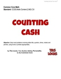 Counting Cash Worksheets, Grade 2 - Common Core with Personality!
