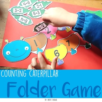 Counting Caterpillar {File Folder} Math center COUNT, ADDITION AND SUBTRACTION