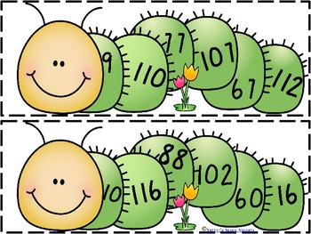 Number Order with Counting Caterpillar