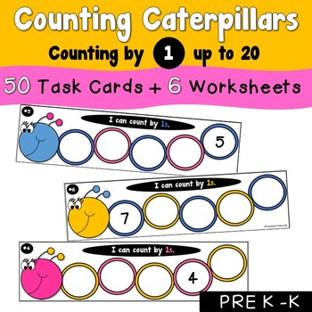 Counting Caterpillars by 1s Using Numbers 0 to 20