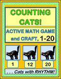 """""""Counting Cats!"""" - Active Halloween Math Game and Craft"""