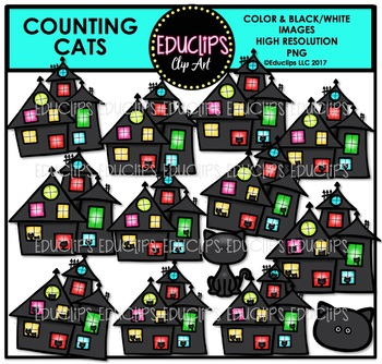 Counting Cats Clip Art Bundle {Educlips Clipart}