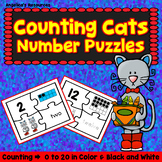 Back to School Activities : Number Sense 0-20  Counting Cats Number Puzzles