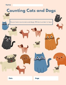 Counting Cats and Dogs Worksheet