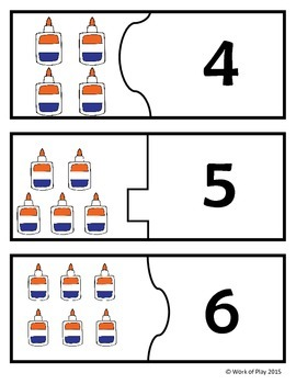 Counting Center: Glue Bottle Puzzles