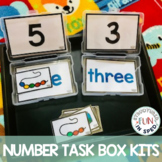 Math Centers Numbers Counting Task Boxes for Special Education Preschool