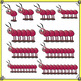 Counting Clip Art - Centipedes - Multi-Colored