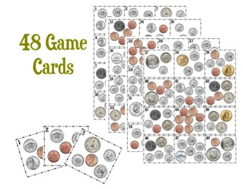Counting Change File Folder Board Game
