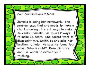 Money - Counting Change Lesson - Great for Evaluations!  Common Core 2.MD.8