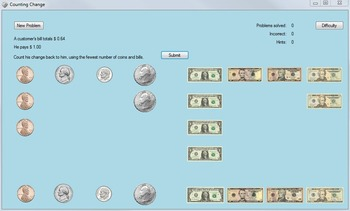 Counting Change Computer Game: Money-Counting Computer Game (Change Counting)