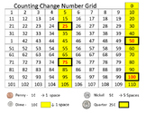 Counting Change Number Grid - Help Students Count Change