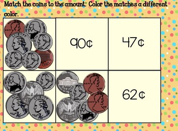 Counting Change SmartBoard Games and Activities 2.MD.C.8