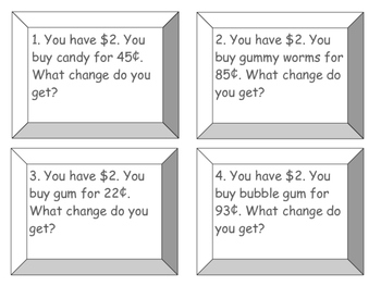 Counting Change Task Cards